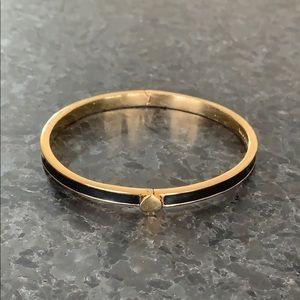 Kate spade gold and black enamel hinge bracelet